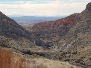 Looking into the Bighorn Basin from Shell Canyon in the Bighorn Mountains